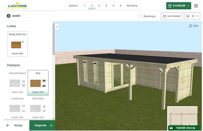 Ontwerp je tuinhuis, stap 1 kies het type dak