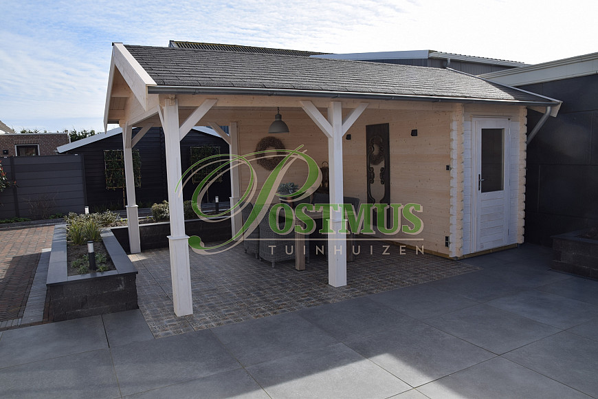 Blokhut met veranda